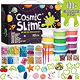 Cosmic Slime Kit - Jumbo 55 Piece Set, Slime Supplies, Make Your Own Slime Kit, Slime Charms, Non-Toxic Clear Putty, Slime Kit for Girls and Boys, Sensory Toy and Slime, Great Gift for Girls and Boys