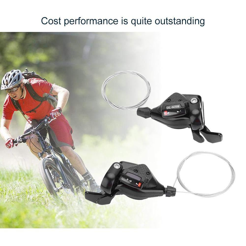 Alomejor Desviador de Bicicletas 1 par de Engranajes de Bicicleta de 3X7 8//9 de Triple Velocidad = Desviador de la Caja de Cables Desviador Izquierdo//Derecho para Shimano