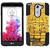 LG G3 Stylus Hybrid Case Yellow Brick Road 2 Piece Style Silicone Case Cover with Stand for LG G3 Stylus