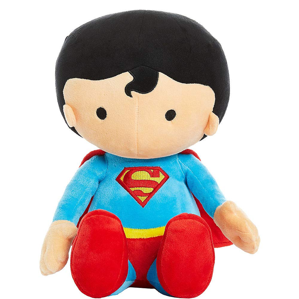 Justice League Superman Clark Kent Large 13 Inch Plush Character Stuffed Soft Boys Collectible by Justice League