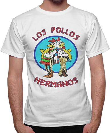 Camiseta para hombre los Pollos Hermanos Breaking Bad – Blanco: Amazon.es: Ropa y accesorios