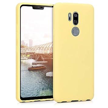 kwmobile Funda para LG G7 ThinQ/Fit/One - Carcasa para móvil en TPU Silicona - Protector Trasero en Amarillo Mate