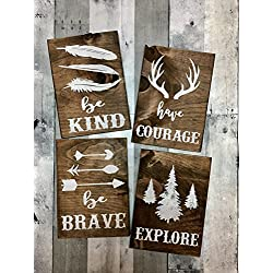 rustic nursery décor, woodland theme nursery, nursery signs, deer antler décor, arrow decor