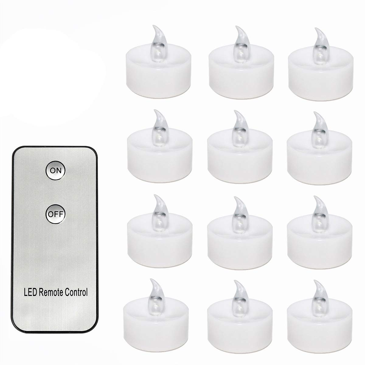 STOBOK 12pcs LED Candle Flickering Tealight Candle with Remote Control for Proposal Valentine Wedding Party Birthday Atmosphere Decor