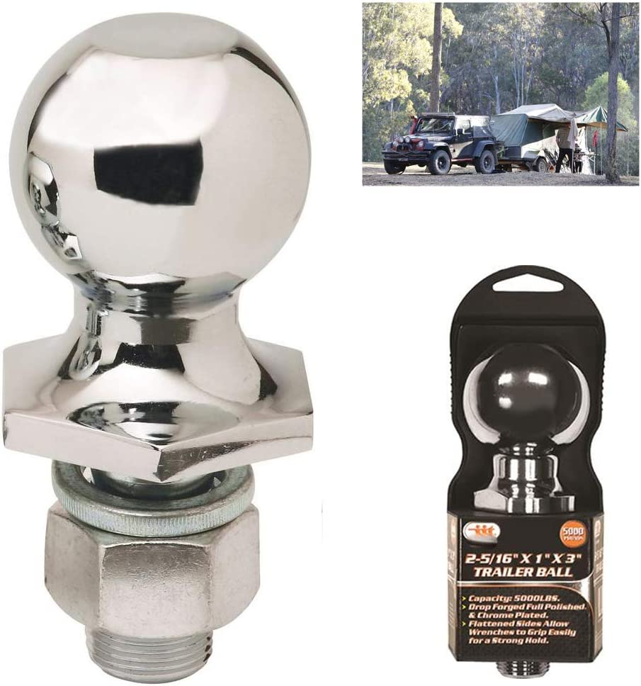 """2/"""" Drop Hitch Receiver Trailer Ball Mount for 2/"""" Receiver 5000lb Tow Hitch HD"""