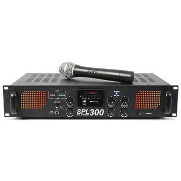 Skytec SPL-300VHF - Amplificador con M3 y micrófono: Amazon ...