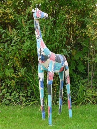128cm Outdoor Garden Statue Ornament Sculpture Large Metal Tall Animal  Giraffe