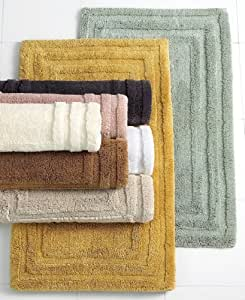 Hotel collection bath rug luxe 24 x 40 cameo kitchen dining for Hotel collection bathroom rugs