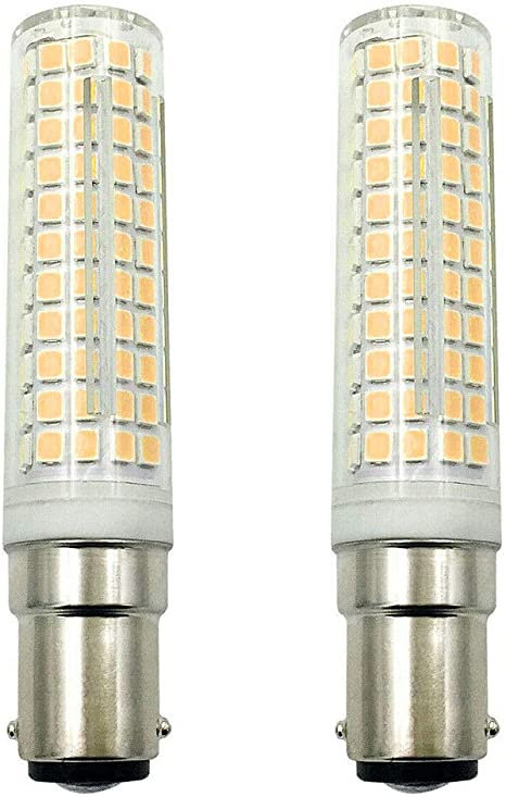 LXcom BA15D LED Corn Bulb Dimmable 15W Double Contact Bayonet Base 136 LEDs 2835 SMD 120W Halogen Equivalent Replaces JD Type T3 T4 Bulbs Warm White 3000K 1500LM for Home Decorative Lighting,2 Pack