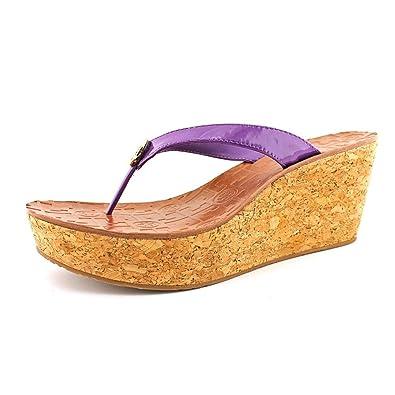 Tory Burch Thora Desert Purple Wedges Womens 9.5 M