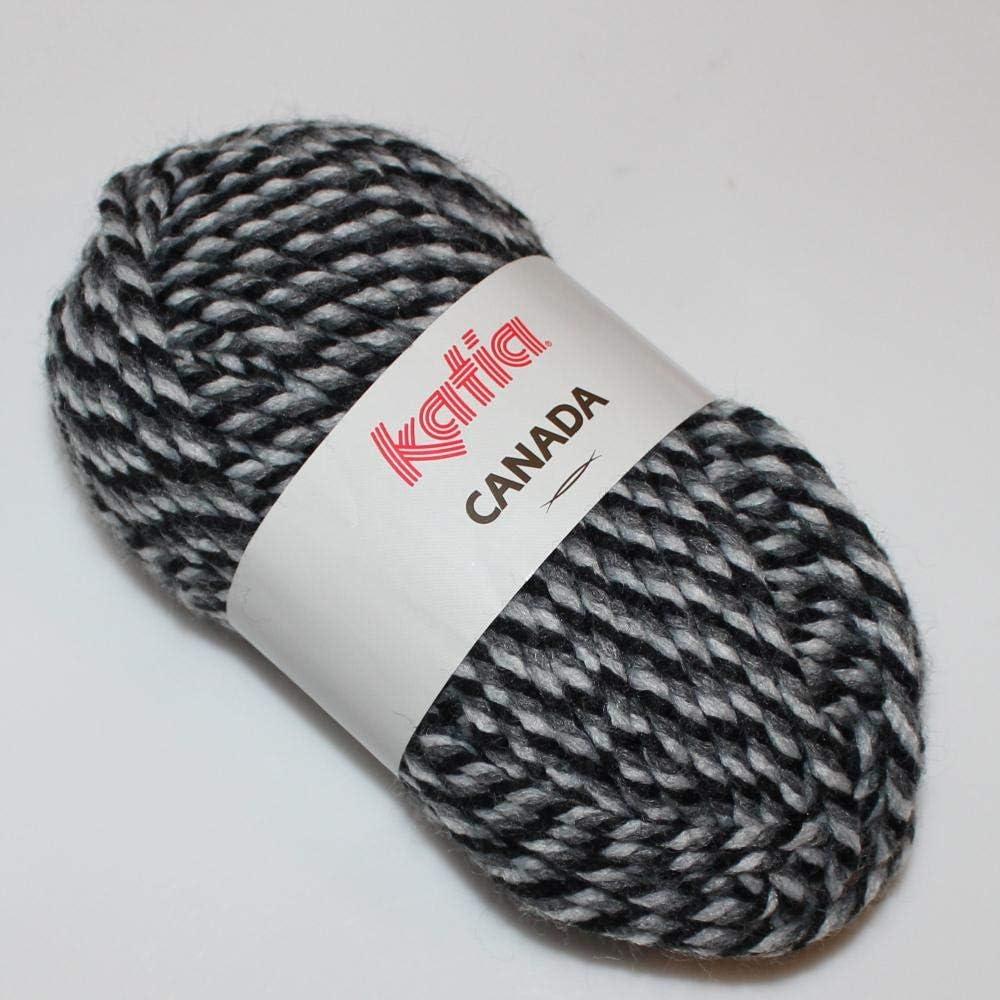 Lanas Katia Canada Ovillo de Color Negro Cod 2