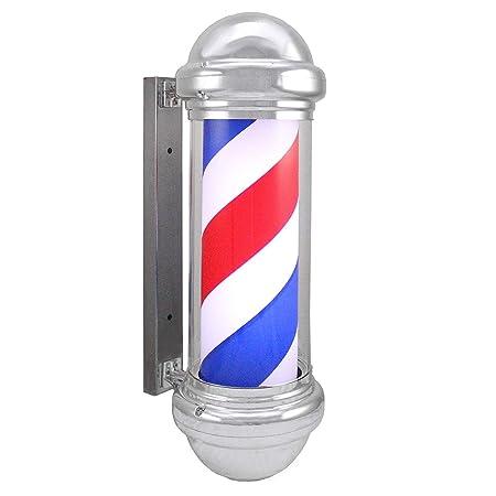 Barber Pole 75cm semicírculo Parte Superior Cilíndrico LED Barbero ...