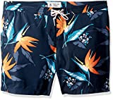 Original Penguin Men's Tropical Floral Fixed Stretch Volley Swim Short, Dark Sapphire, 36