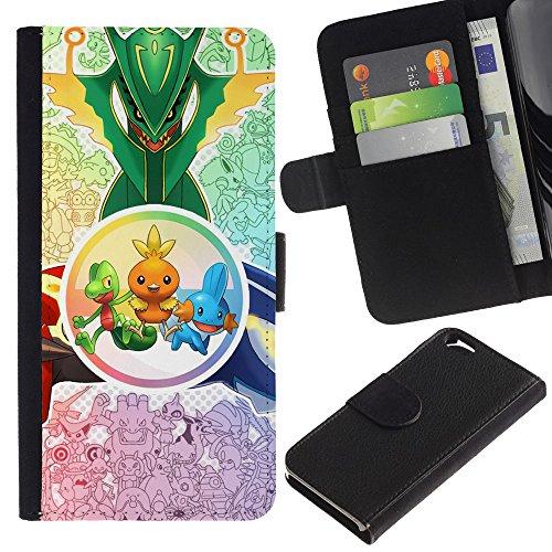 Funny Phone Case // Cuir Portefeuille Housse de protection Étui Leather Wallet Protective Case pour Apple Iphone 6 / Créatures mignonnes /
