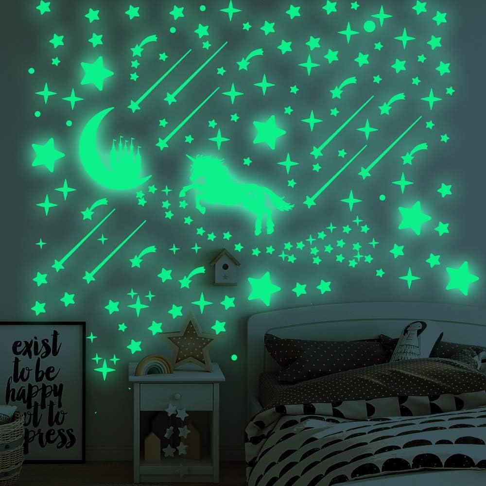 Luminous Unicorn Stars Glow In The Dark Wall Stickers Wall Decals Bedroom Decor