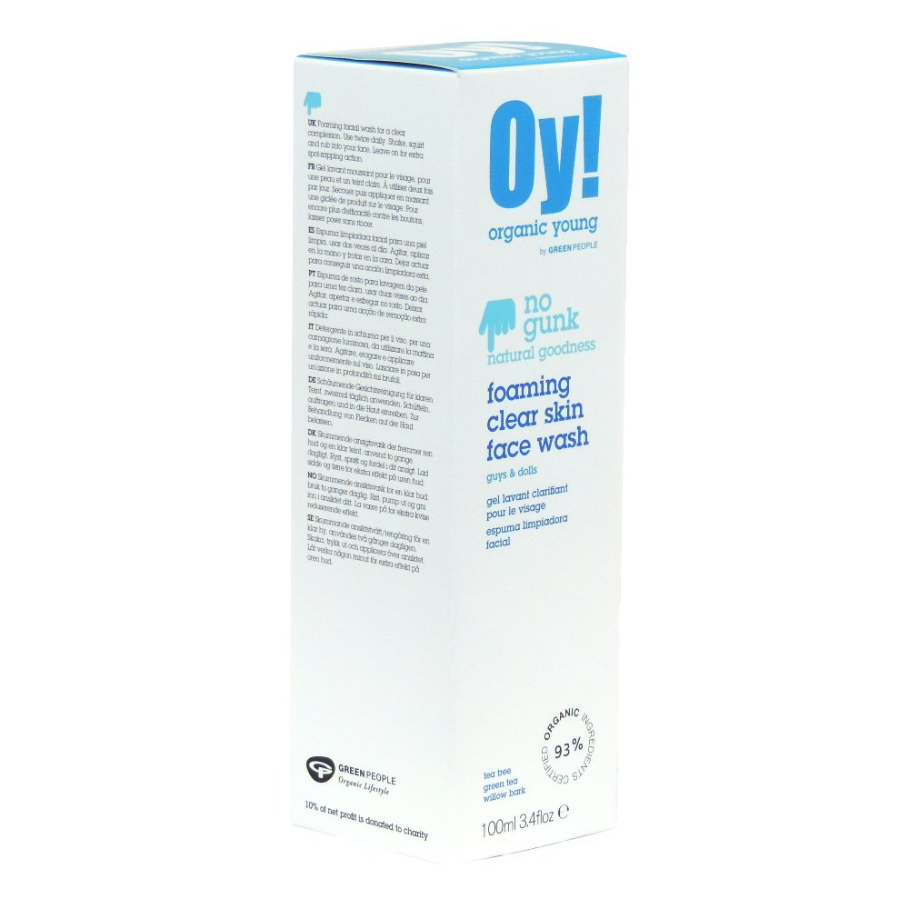 Oy! - Organic Young - Foaming Clear Skin Face Wash - 100ml (Case of 6)