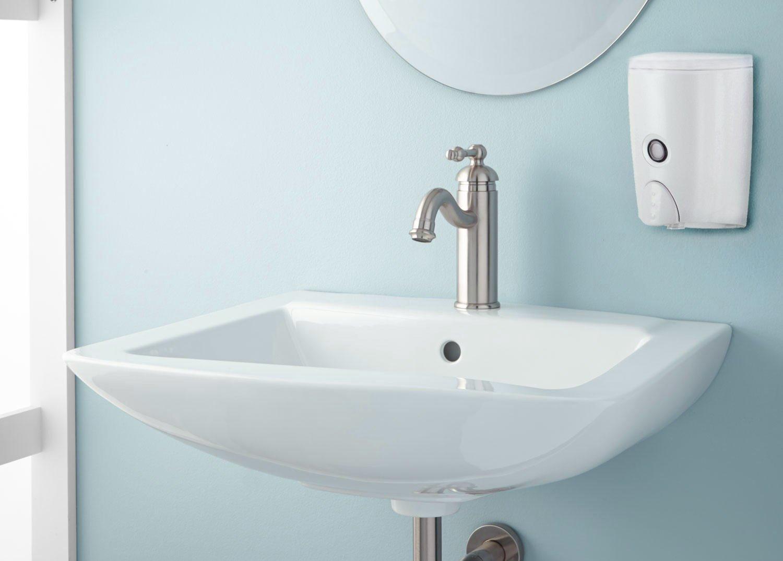 Amazon.com: HOMEPLUZ Simply White Wall-Mount Soap Dispenser (19.6 oz ...