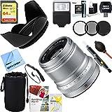 Fujifilm 16536623 Fujinon ENS XF50mm F2 R WR Lens (Silver) + 64GB Ultimate Filter & Flash Photography Bundle