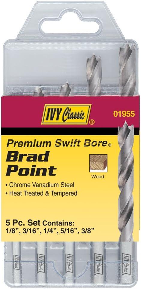 1//Card 60 Wire Gauge Drill Bit IVY Classic 01560 No M2 High-Speed Steel 135-Degree Split Point