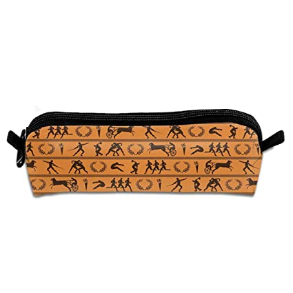 Ancient Greek Olympics Pen Bag Makeup Pouch Zipper Box ...