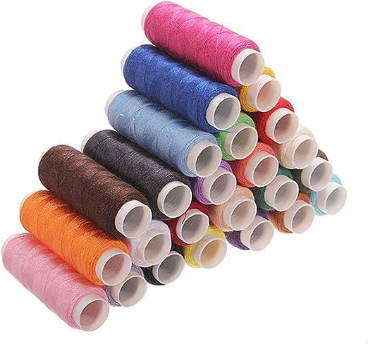 Deanyi 24 varios colores Poliéster de costura del hilo de coser e ...