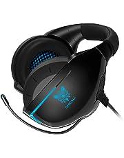 ONIKUMA Auriculares Gaming con Microfono para PS4 Xbox One PC, 3D Sonido Envolvente, Reducción de Ruido, Diadema Ajustable Headset para PS4 con Jack Stereo da 3,5 mm Cascos Gaming