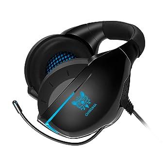 ONIKUMA Auriculares Gaming con Microfono para PS4 Xbox One PC, 3D Sonido Envolvente, Reducción