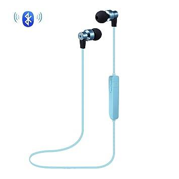 MOREFINE Bluetooth Auriculares Deportivo En-Oreja Audifonos Inalámbrico Estéreo Cancelación de Ruido con Micrófono para Hombre Mujer Android iOS Música ...