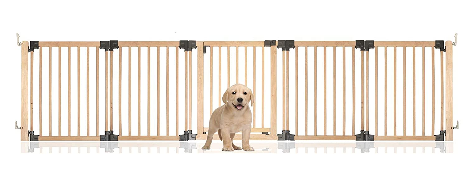 Up to 336.5CM Safetots Wooden Multi Panel Pet Barrier Up to 336.5CM
