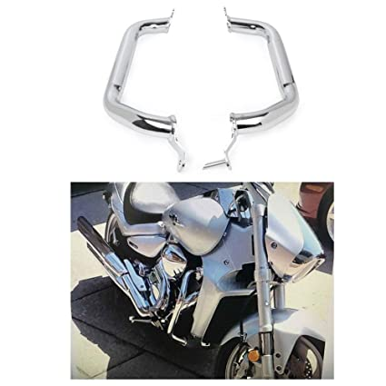 GZYF Chrome Motorcycle Engine Guard Highway Crash Bar Protective Bar Fits  Suzuki M109R Boulevard 2007-2016