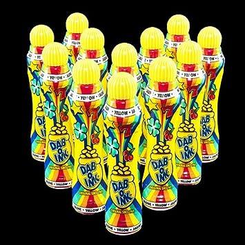 One Dozen 4oz Dab-O-Ink Yellow Bingo Dauber