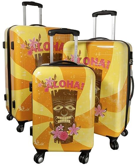 Betz maleta de viaje HAWAII 1 Trolley Boardcase con ruedas de rodaje fácil con cerradura de