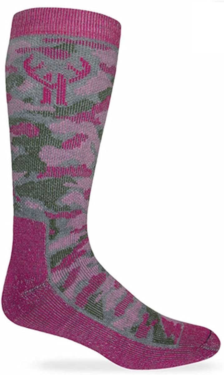 Huntworth 2 Pack Girl's Camo Wool Boot Sock