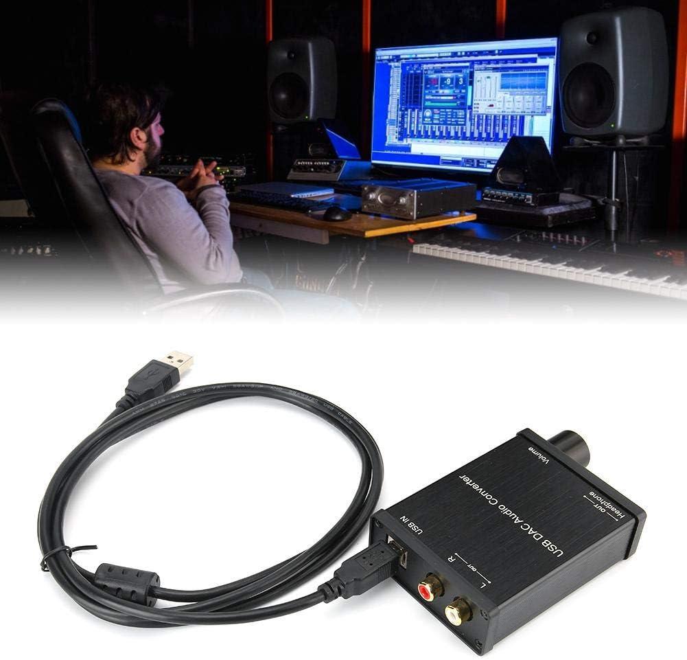 USB Sound Card DAC Optical Audio Adapter Digital to Analog Signal Output DAC Audio Converter for Windows//Mac OS X// PS4,