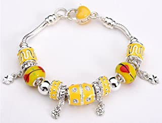 SaySure - 925 Sterling Silver Field of Daisies Murano Glass&Crystal
