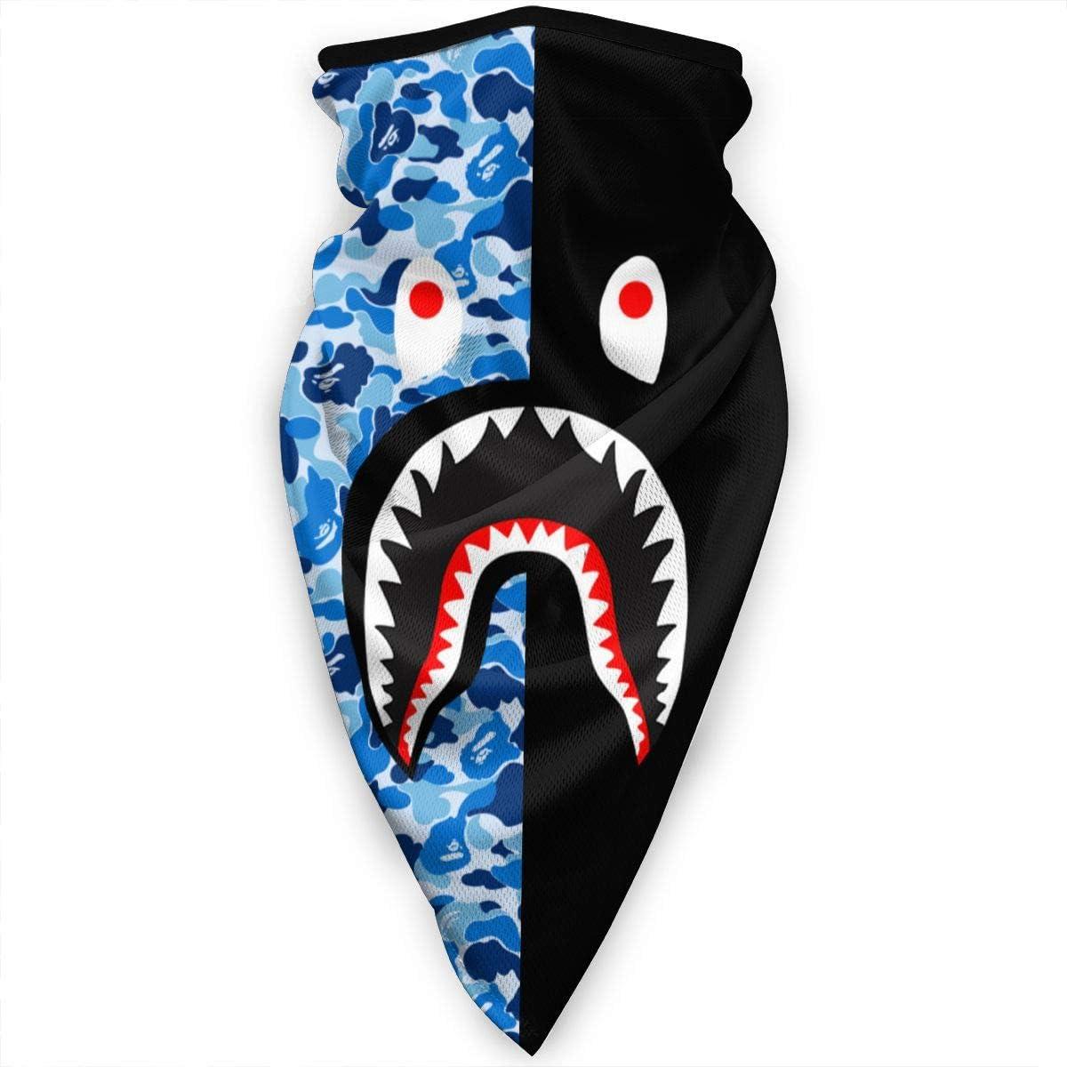 Bape Blood Shark Neck Gaiter Balaclava Headband Scarf Bandanas Outdoor
