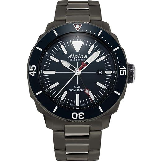 Alpina Geneve Seastrong Quartz GMT AL-247LNN4TV6B Reloj de Pulsera para Hombres: Amazon.es: Relojes