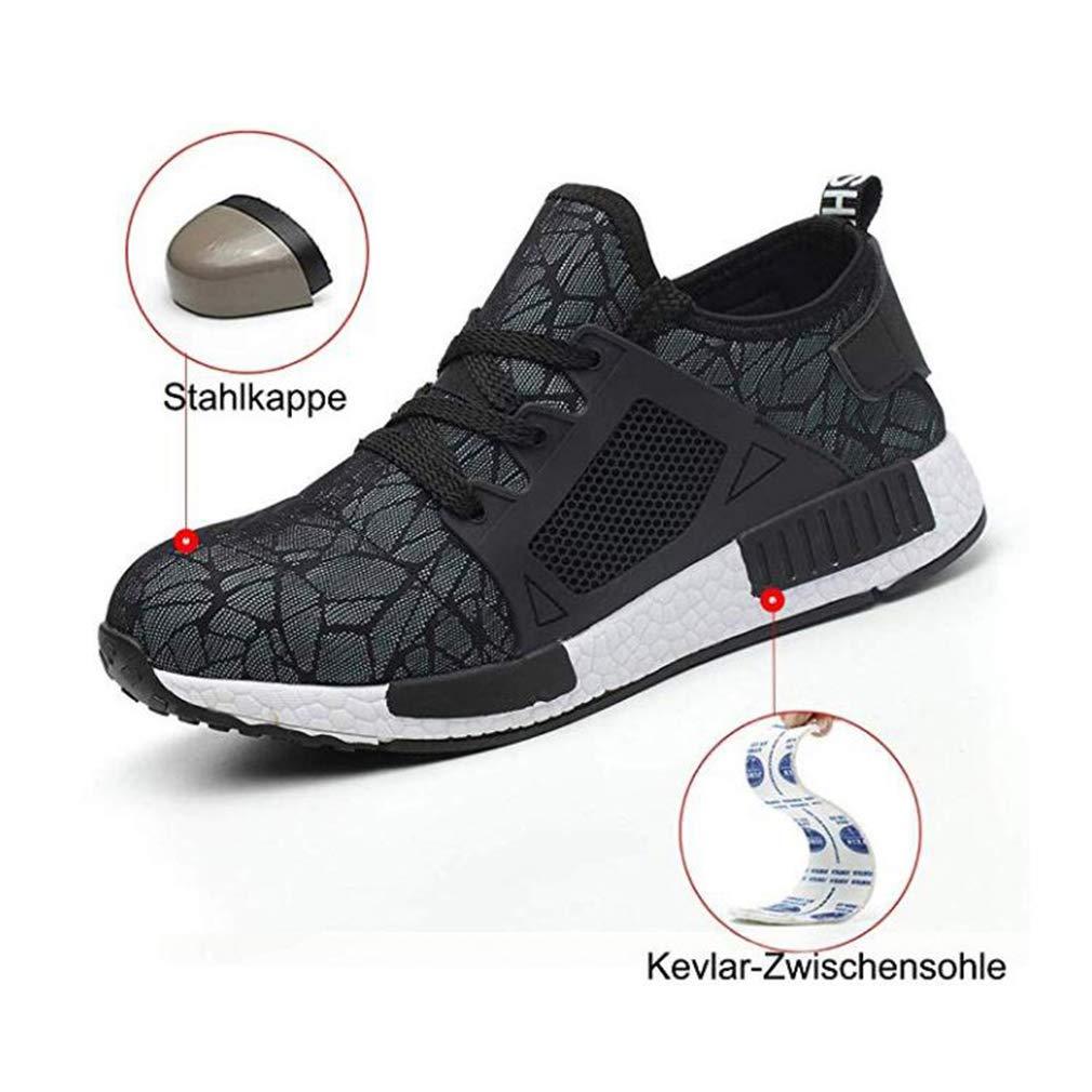 Hibote Chaussure de S/écurit/é Respirant Chaussures de Travail Embout de Protection en Acier Semelle de Protection Unisexes 19052101