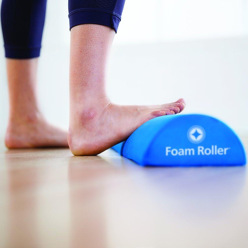 STOTT PILATES Soft Density Deluxe Half Foam Roller, Blue, 36 92cm