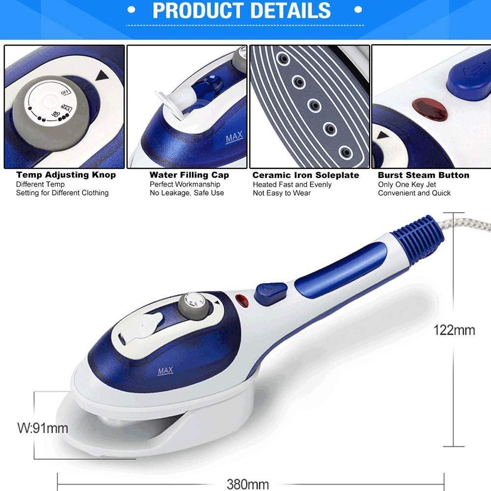 2 Dans Un Fer Plat Chaud Suspendu Tenue À Vapeur Accueil Brosse Brosse Portable Fer À Vapeur Multifonction,Bleu Blue