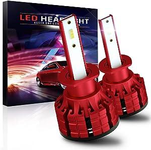 H1 Led Headlight Bulb,60W 10800LM CSP Chips High Bright 6000K Conversion Kit