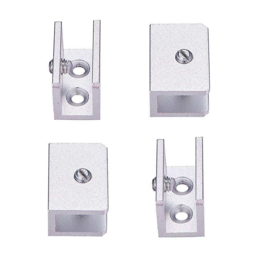 INCREWAY 4 St/ück Verstellbare Aluminiumlegierung Glas Clip Regalhalter Halterung Halterung Halterung Wandhalterung f/ür 6-12 mm Glas