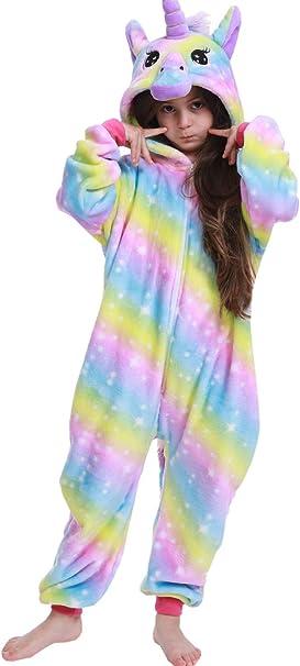 OKSakady Niños Unicornio Onesie Pijama Franela Cosplay Disfraz ...