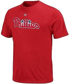 455ea670fef VF Philadelphia Phillies MLB Mens Majestic Wordmark Shirt Red Big   Tall  Sizes