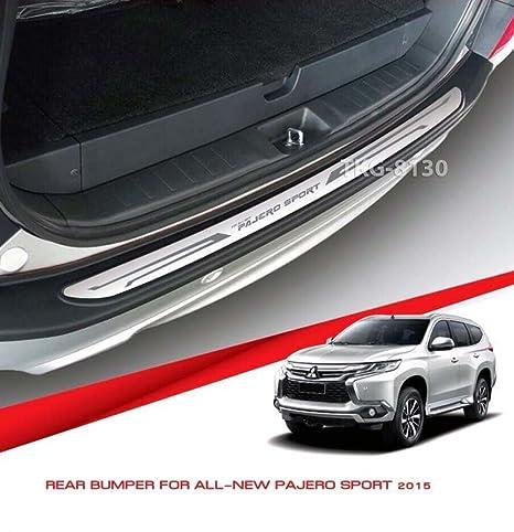 Acero inoxidable exterior trasero Bumper Protector Repisa paso placa pantalla Trim para Mitsubishi Montero/Pajero