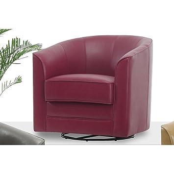 Milo Swivel Slipper Chair Color: Red