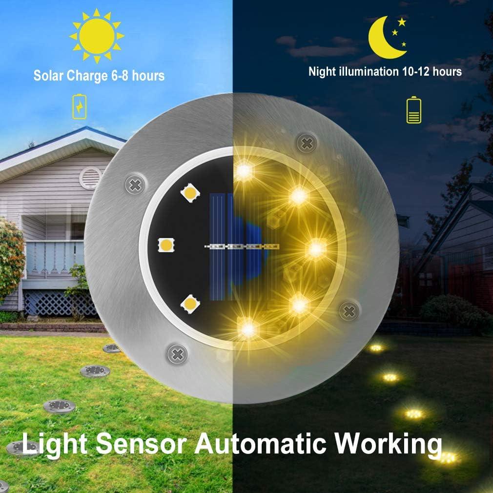 4pcs 12 LED Solar Light Outdoor Wasserdichtes Rasenlicht Solar Garden Light DHL