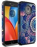 Moto E4 Plus Case, Moto E Plus (4th gen.) Case, Rosebono Dual Layer Shockproof Hard Cover Vintage Graphic Case for Motorola Moto E4 Plus (Mandala)