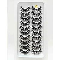 KADIS 8 Pairs 3D False Eyelashes Natural Wispy Fluffy Dramatic Volume Fake Lashes Handmade Eyelash,3D101