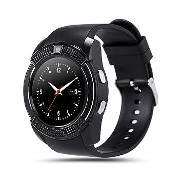 Teepao V8 - Reloj inteligente con Bluetooth, monitor de actividad física, tarjeta SD,